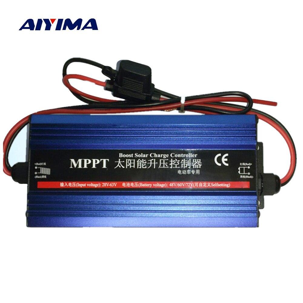 AIYIMA MPPT Boost контроллер заряда зарядное В устройство 48 В 60 72 В для хранения автомобиля батарея зарядки напряжение Регулятор ток 600 Вт
