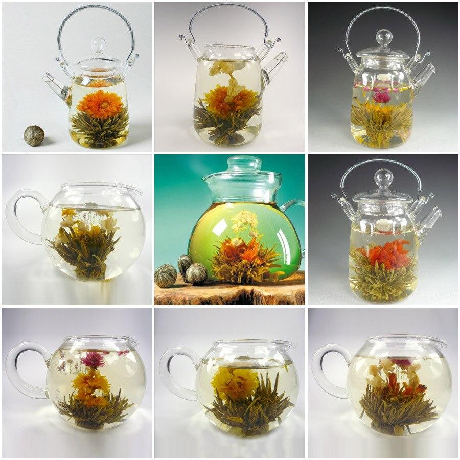 16pcs Blooming Flower Tearandom Mix 16 Kinds Of Green Tea Balls Art