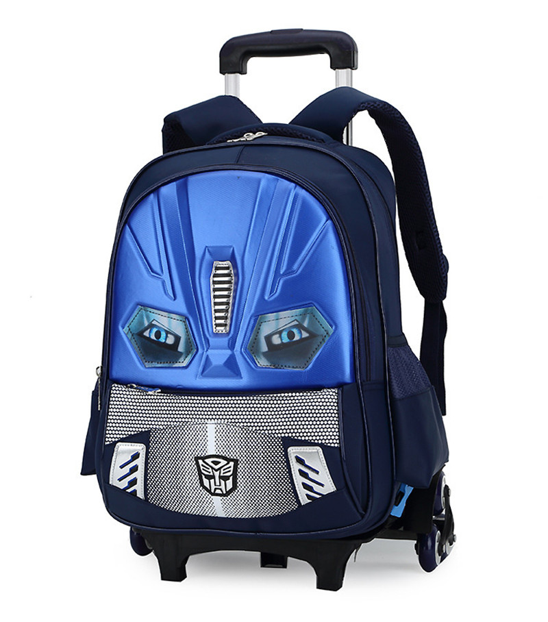 3D Cartoon hard shell Kids School Backpack 2/6 wheel Trolley School bags boys Removable Childrens Travel luggage Bag Mochila