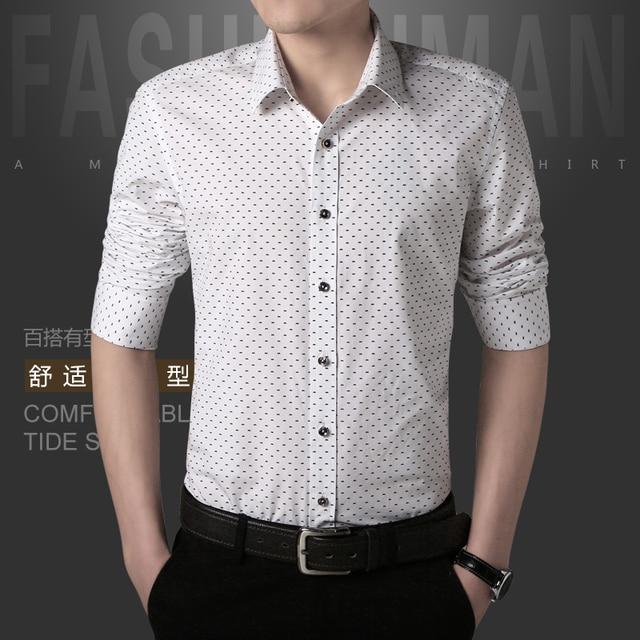 W печать 5XL летние рубашки мужчин 2016 Новый стиль полный рукавом рубашка бизнес свободного покроя мужские рубашки отложным воротником одежды