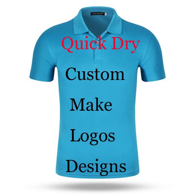 Custom print logos name quick dry polo shirts embroidery for Polo shirts with embroidered custom logo