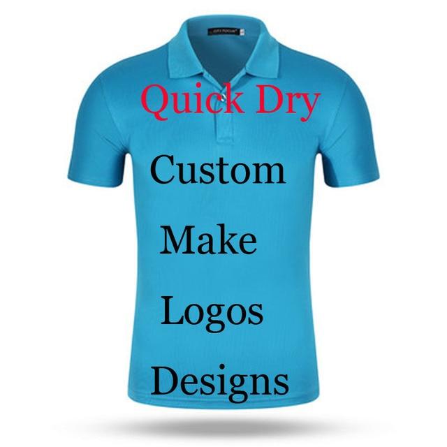 Custom Print Logos Name Quick Dry Polo Shirts Embroidery Heat