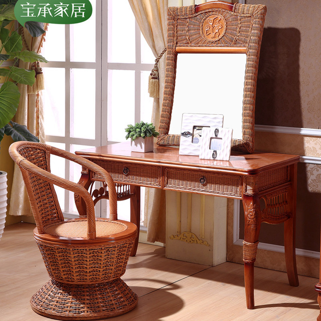 Southeast Asia Indonesia Rattan Dresser Rattan Vine Dresser Dressing Tables  Dressing Stool Rattan Cane Bedroom Furniture
