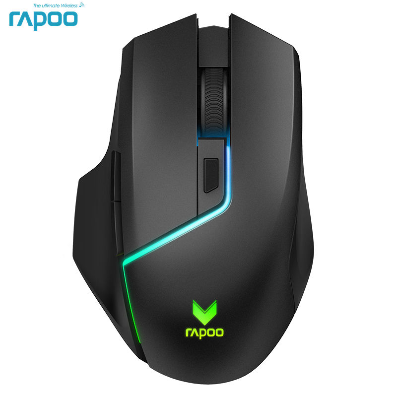 Rapoo Dual Model Gaming Mouse Wireless 5000 DPI 7 Buttons PUBG Computer Mouse Mice for FPS