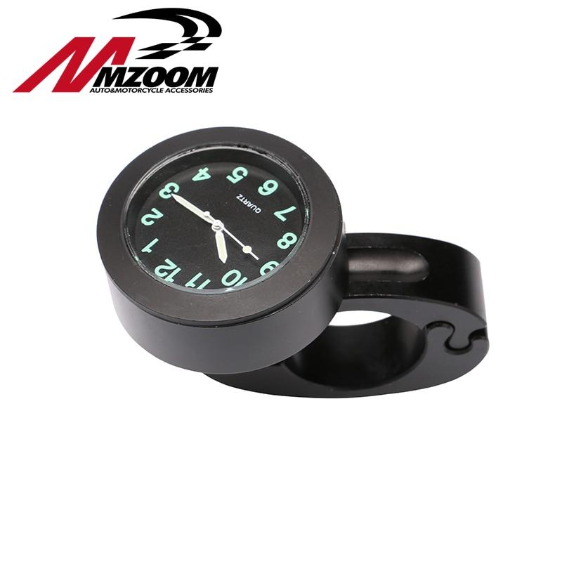 Mzoom - Hot Sales Popular Motorcycle Accessory Handlebar Mount Clock Watch Waterproof