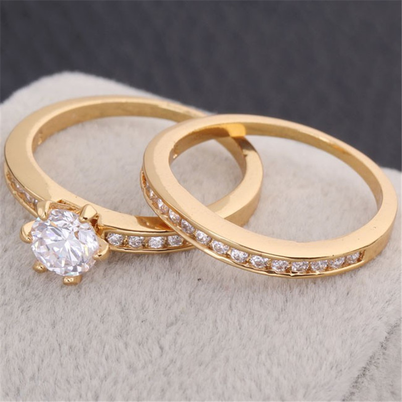 aliexpresscom buy 2015 new brand luxury wedding rings for women gold plated rings with full crystals jewelry gold rings j0032 from reliable wedding rings - Luxury Wedding Rings