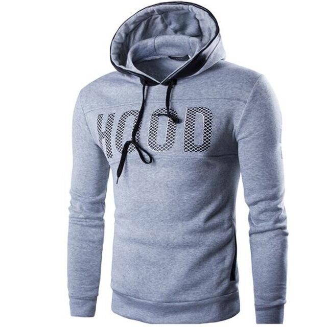 2017 Hoodies Brand Men Chest Letter Printing Sweatshirt Male Hoody Hip Hop Autumn Winter Hoodie Mens Pullover Cotton XXXL