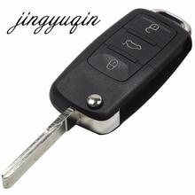 Jingyuqin 10x Best качество 3 кнопки Оболочки чехол для VW Passat Мужские поло Гольф Touran Бора IBIZA Леон Octavia Fabia дистанционного ключ пустой