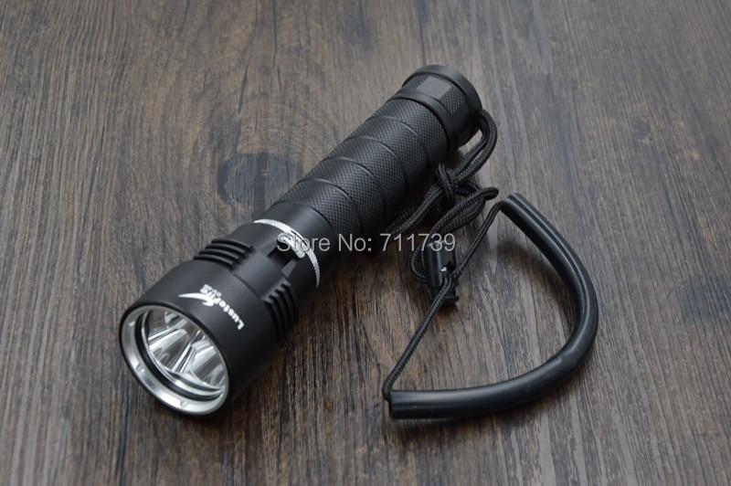 ФОТО Free shipping LusteFire DV-08 3 x CREE XM-L2 5000 Lumens LED Diving Flashlight Underwater Up to 200m