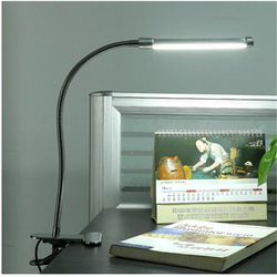Gratis verzending Zwart/Zilver led bureaulamp  led clip lamp  oogbescherming led leeslamp met converter  26 cm buis TD510