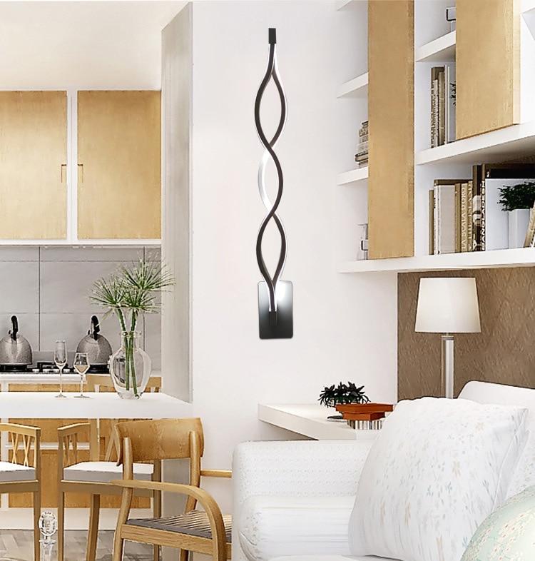 lampada led lmpara de espejo moderno llev la luz de la pared ip fixture wave acrlico