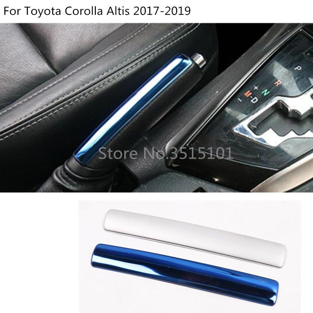 Carbon fiber Armrest Box Switch Handle Cover Trim For Toyota Highlander 2014-17