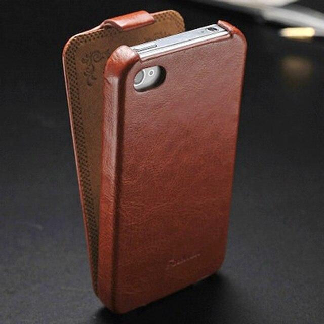 ARTISOME Flip Leather Case for iPhone 4 4S Phone Cover Leather Filp Case for iPhone 4 S4 Coque Original Luxury Retro Design