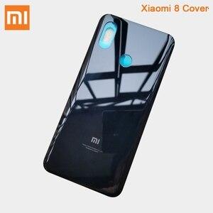 Image 4 - Original Glass Battery Rear Case For Xiaomi 8 MI8 M8 8SE Back Battery Cover Phone Battery Backshell Back Cover Cases