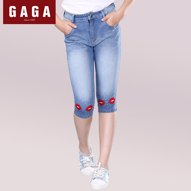 GuaGuaEgg 2016 Summer Girls 7 minutes of Jeans Casual Appliques ...