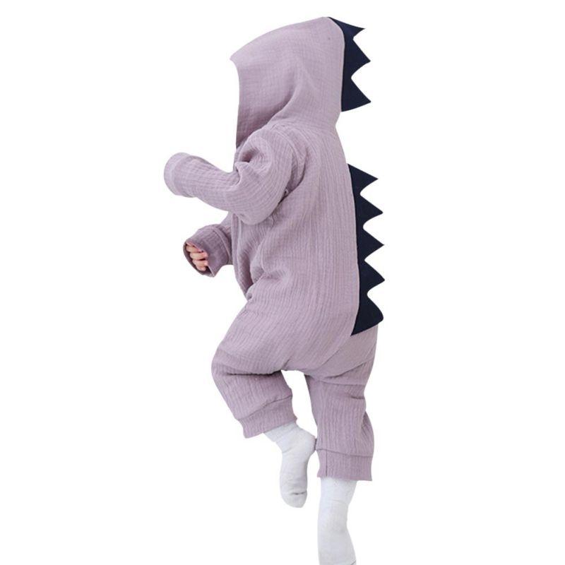 Grey/Purple Baby Halloween Dinosaur Costume Romper Kids Cotton Clothing Set Cute Toddler Co-splay j2