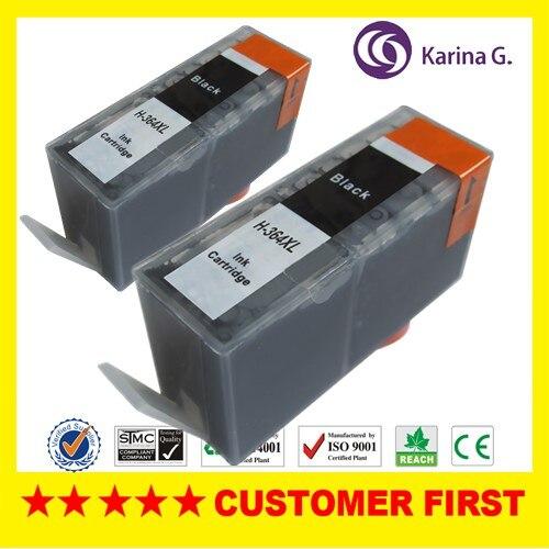 2x kompatibel für schwarze hp patrone 364 xl cn685ee für photosmart b8550...