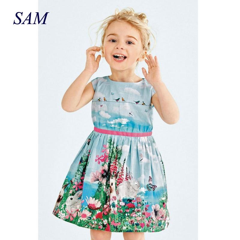 Bērnu meiteņu kleita 2019 jauna vasaras meitene kleita - Bērnu apģērbi