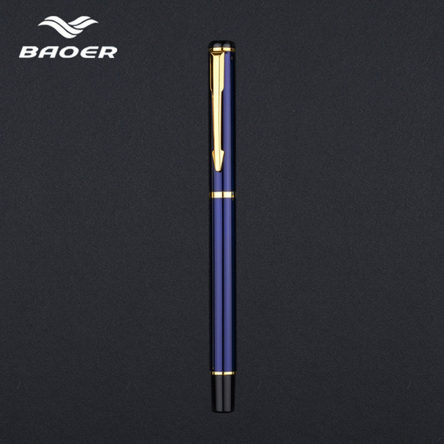 Luxury Rollerball Pen Baoer Gel Pen Metal Ball Ballpoint Pen  Papelar Boligrafo Stationery Material Escolar Volume boligrafos 4
