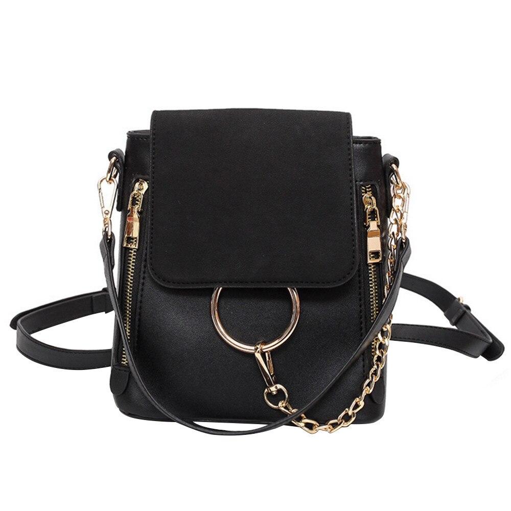 Sacs à dos scolaires pour adolescentes noir fille sac à dos scolaire pour école collège sac pour femmes léger anneau sac à dos - 4