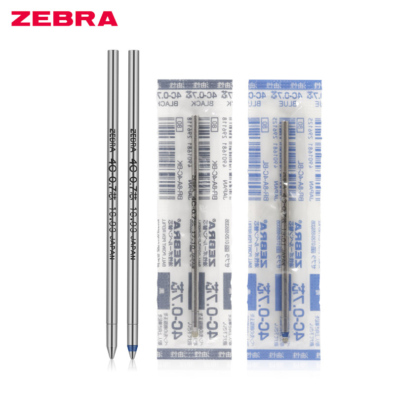 ZEBRA Colored Ballpoint Pen Refill Oil Ink Refills School Stationery Office Supplies Suitable For Telescopic Pen 4C-0.7