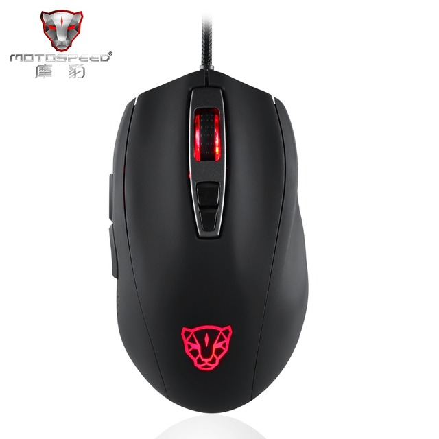 New Arrival Motospeed V60 5000 DPI Wired Gaming Mouse 7 Keys Ultra-fast Pmw3325 High Precision Optical Engine 100 inch/s