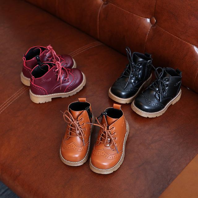 Kids shoes girls niños atan para arriba el alto niños solid baby girl shoes sport otoño invierno niños shoes