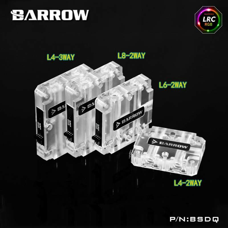 Barrow Multi graphics card water connector block Applicable to multi-graphics card SLI crossfire use Built-in RGBversion BSDQ2/3 uwinka mc u6c multi in 1 water resistance shockproof memory card storage box red