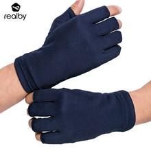 Realby Лето пальцев для вождения Прихватки для мангала мужской тонкий солнцезащитный крем Твердые наручные Прихватки для мангала варежки УФ-защитой Luvas de Inverno Военная униформа