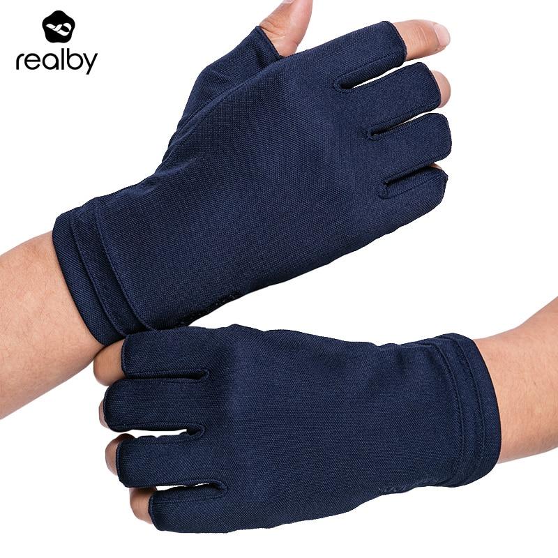 REALBY Sommer Finger Treibende Handschuhe Männlichen Dünnen Sonnencreme Feste Handgelenk Handschuhe Uv-schutz Fäustlinge Luvas de inverno Military