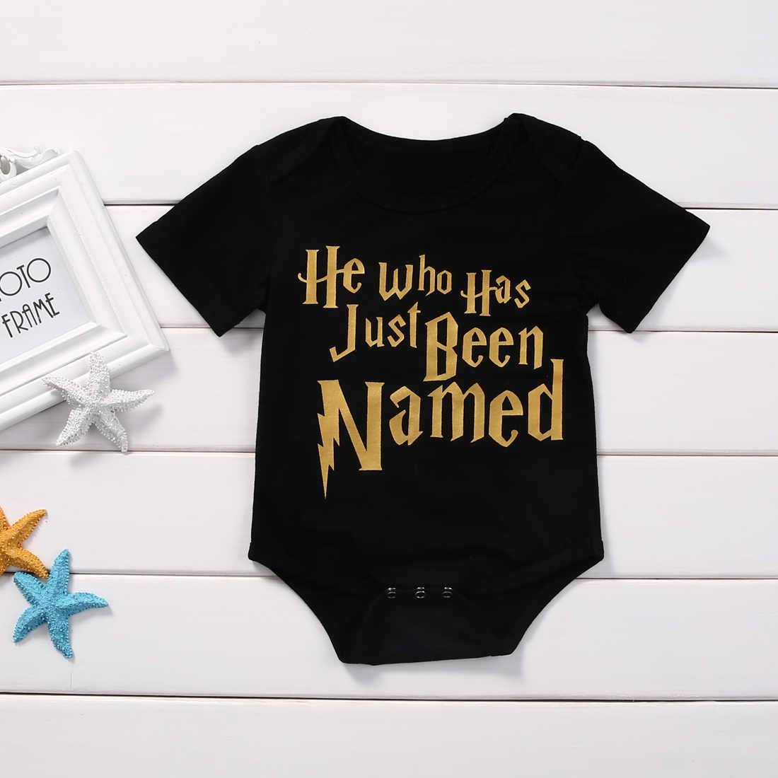 2018 Модный комбинезон для новорожденных мальчиков и девочек, красный, черный комбинезон с буквами, детская одежда, летняя повседневная одежда, 45