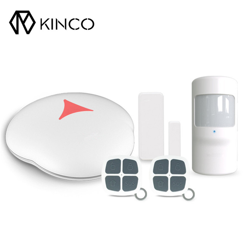 Hot Sale Best Promotion WiFi PSTN Smart Home Alarm System for IOS Android APP Remote Control with PIR Detector Door Sensor цена 2017