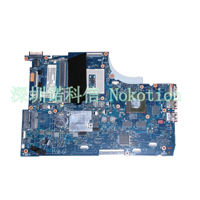 NOKOTION 720569-501 720569-001 for HP  Envy TouchSmart 15 15-J laptop motherboard HM87 gt750M 2G Notebook systemboard Mainboard wholesale 747138 501 747138 001 for hp 250 g2 15 d series laptop motherboard 747138 001 n3510 mainboard systemboard