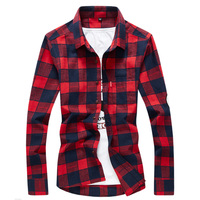Men S Flannel Plaid Shirts Dress 2018 Male Casual Warm Soft Comfort Long Sleeve Shirt Clothes