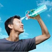 El más nuevo Diseño de Botella de Spray de Agua De Plástico Deportes Botellas de Bebida de Paja Para Bicicleta Ciclismo Deportes Al Aire Libre Gimnasio