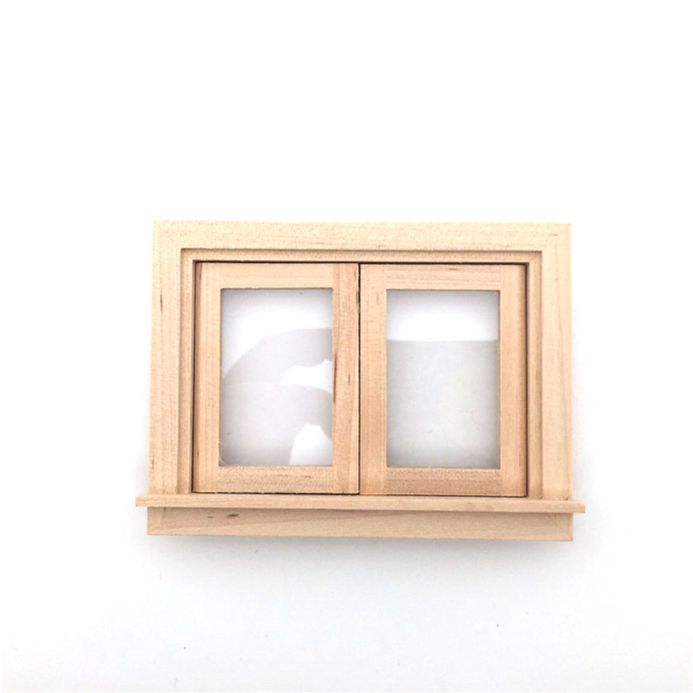1/12 Dollhouse Miniature Accessories Mini Wooden Window Simulation Furniture Model Toys For Doll House Decoration