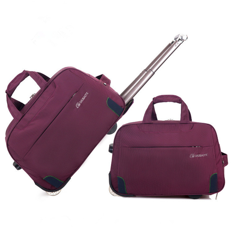 Trolley Travel Bag Hand Luggage Rolling Duffle Bags Waterproof Oxford Suitcase Wheels Carry On Luggage Unisex Small Size|travel bags hand luggage|hand luggage|carry on luggage - title=