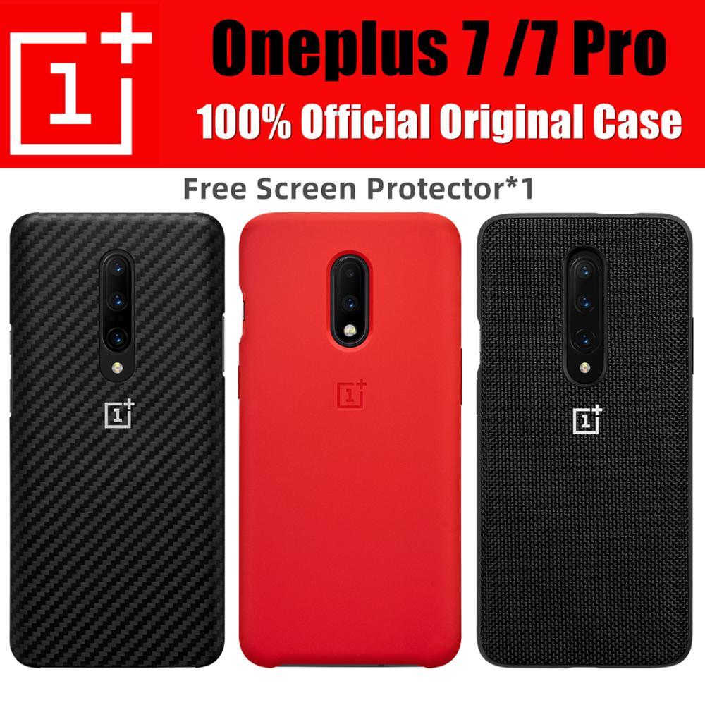Oneplus 7 Case Bulk Prices 100% Original ONEPLUS Official Stock Silicone Sandstone Nylon Karbon Protecive Cover One Plus 7 Pro