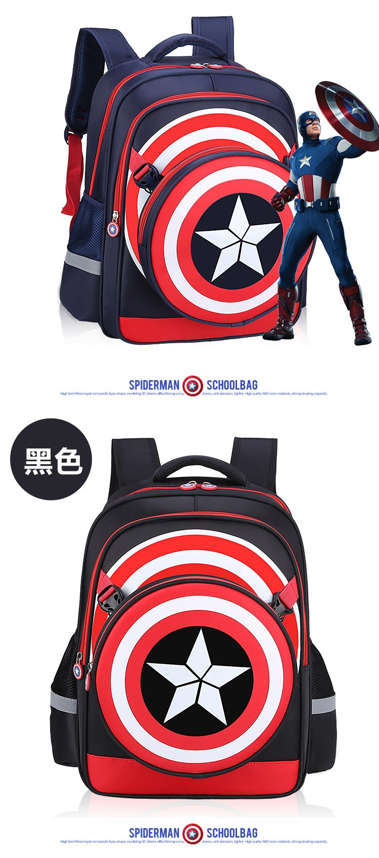 Medium Of Captain America Backpack