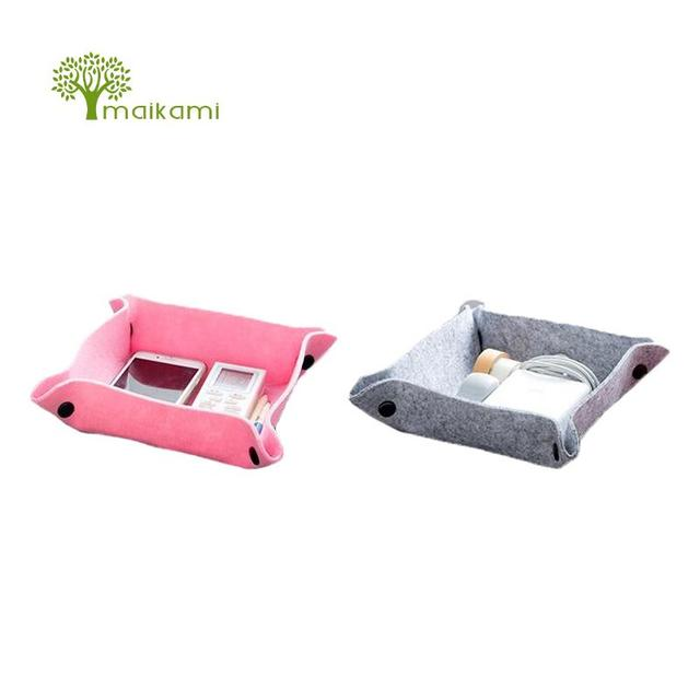 1pcs Cloth Blankets Storage Plate Desktop Debris Storage Box Office Living  Room Coffee Table Remote Control