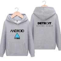 Anime! Detroit:Become Human Connor Hoodie Cosplay Coat Autumn Winter Fashion Youth Leisure Sweater 2018 Hot Game Free Shipping