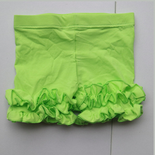 lime green ruched leggings icing summer panties short style cotton capris santan