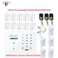 433 МГц датчик GSM охранная система с PSTN ЖК дисплей смарт дисплей Сенсорная клавиатура домашняя дверная Аварийная сигнализация датчик DHL доста