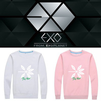 Kpop EXO cotton Pink Sweatshirt Women Hoodies Korean Hip Hop autumn Round Collar Hoodies Female Streetwear loose casual Clothes