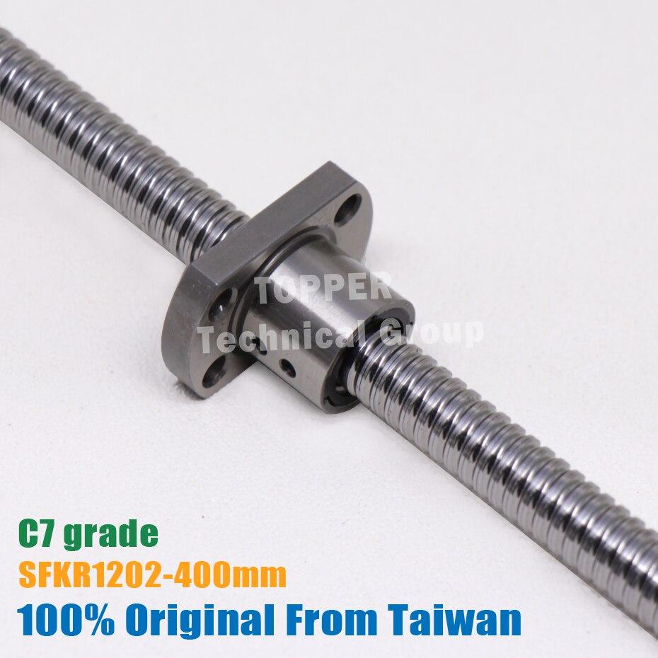Taiwan TBI 1202 ball screw 400mm C7 12mm dia with SFK1202 nut miniature CNC 3d printer