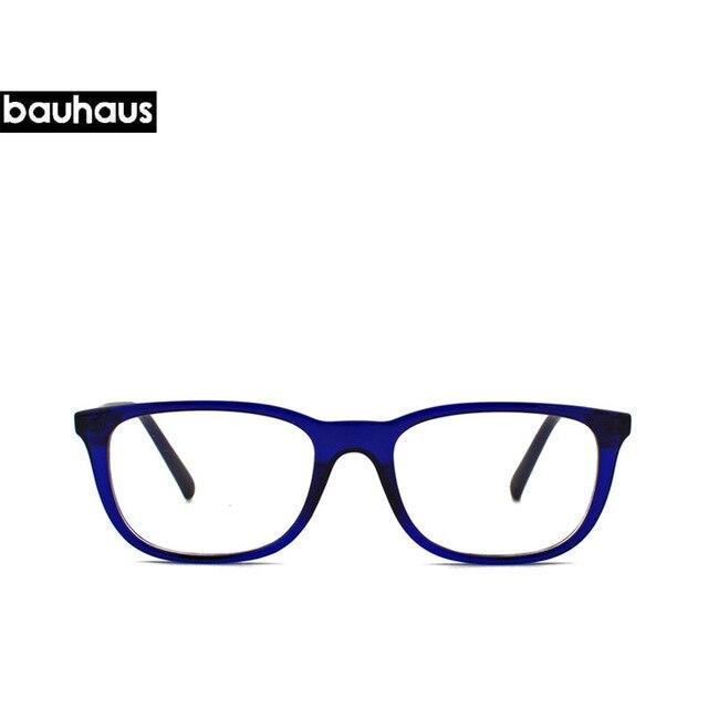 3fc74bc409d30 Bauhaus Materiais de acetato de óculos de armação homens retro 2017 Itália  Projeto óculos de computador