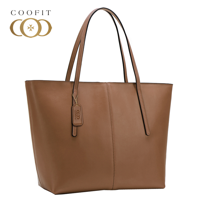 Coofit Design Women Waterproof Bag Tote Fashion PU Leather Handbags For Girls Female Large Capacity Shopping Shoulder Hand Bags