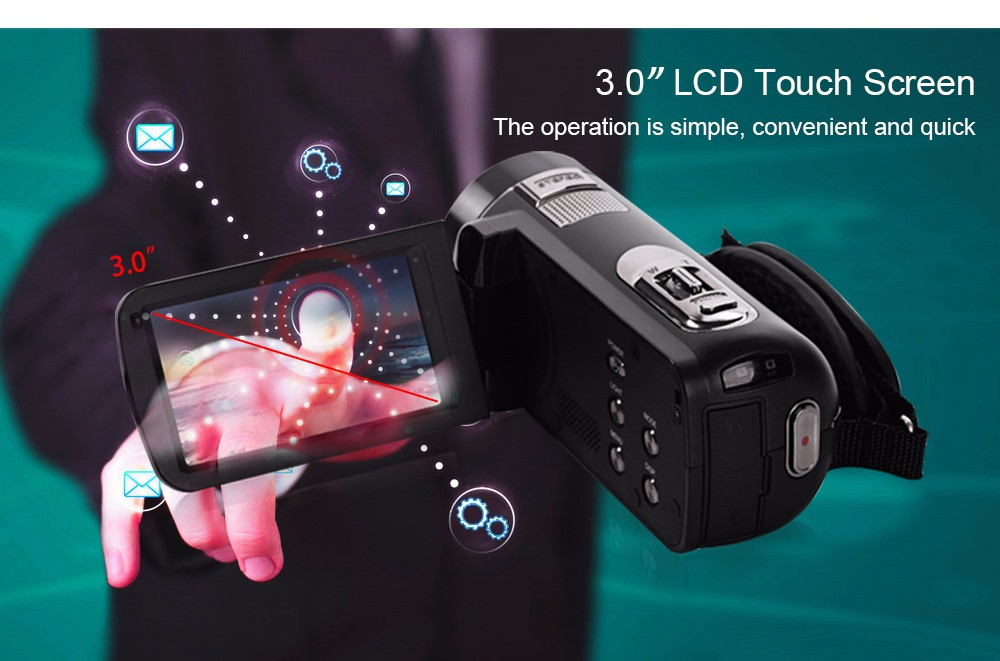 Ordro Camcorder HDV-Z18 Plus 1080P FHD Digital Video Camera Recording with 12X Teleconverter Remote Control HDMI Output 7
