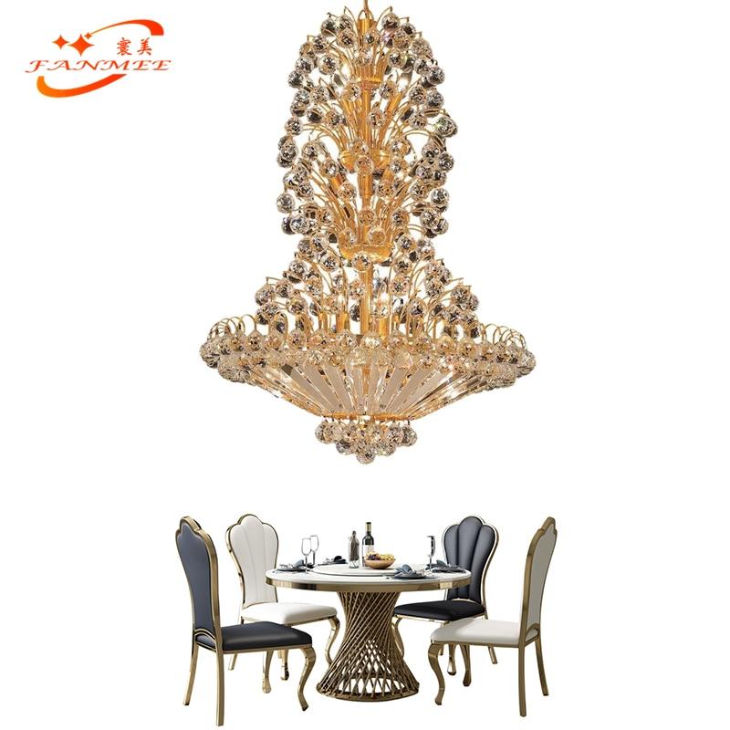 Lustre De Cristal tradicional Iluminação LED K9 Decorativo Da Lâmpada de Luz Restaurante Sala de Jantar Lustres de Cristal Pendurado