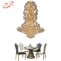 Traditional Crystal Chandelier Lighting LED K9 Crystal Hanging Lamp Decorative Light Restaurant Living Dining Room Chandeliers